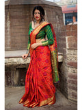 Beautiful Red India Wear Soft Silk Saree