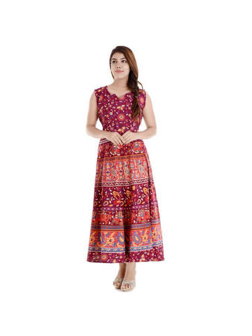 Rajasthani Printed Full Length Maxi Dress 116