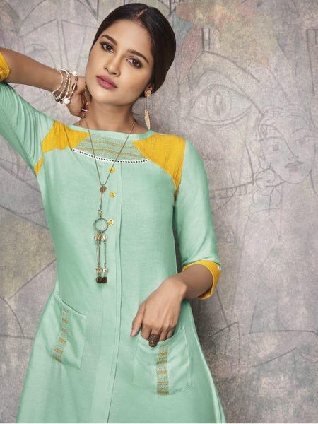 Beautiful and Designer Long Straight Cut Kurti