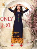 Beautiful and Designer Straight Cut Kurti with Palazzo