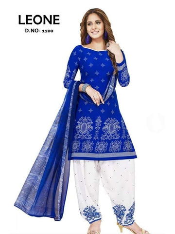 Beautiful & Designer Royal Blue Color Patiala Suits