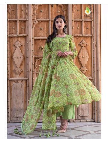 Beautiful & Designer Green Color Anarkali Suits