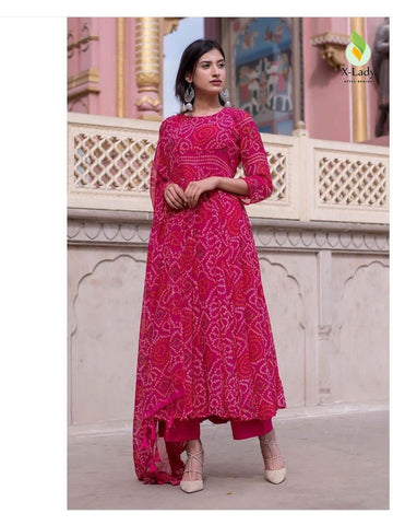 Beautiful & Designer Pink Color Anarkali Suits