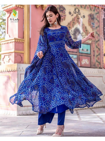 Beautiful & Designer Royal Blue Color Anarkali Suits