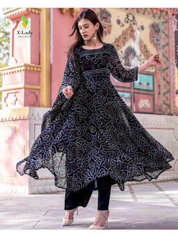 Beautiful & Designer Black Color Anarkali Suits