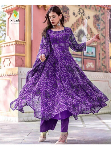 Beautiful & Designer Purple Color Anarkali Suits