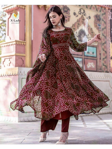 Beautiful & Designer Brown Color Anarkali Suits