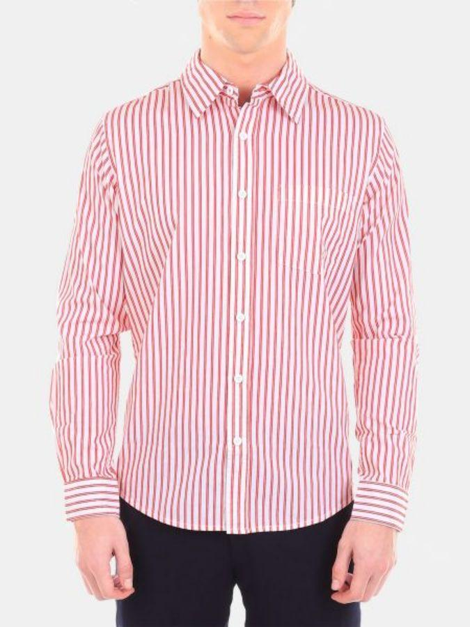 Men's Red Color Cotton Formal Shirt