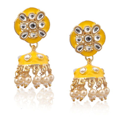 Beautiful Yellow Color Earring