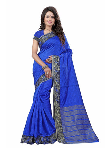 Banarasi Silk BLUE Color woven Saree with Blouse Piece
