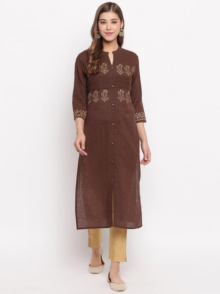 Cotton Printed Straight Cut Kurti
