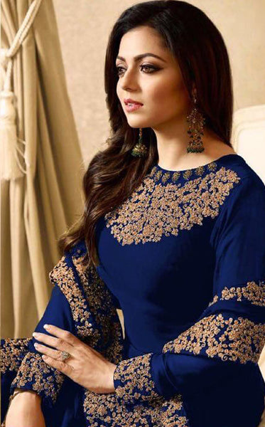 Beautiful and Designer Georgette Anarkali Suit With coding work
