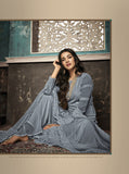 Beautiful and Designer Grey Colour Straight Cut Suit