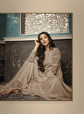 Beautiful and Designer Beige Colour Straight Cut Suit