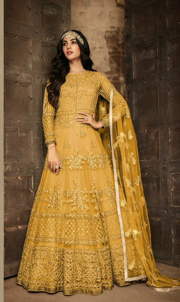 Beautiful Heavy Net Embroidered Anarkali Suit