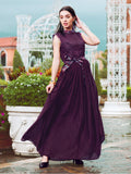 Designer and Beautiful Purple Color Gown