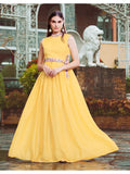 Designer and Beautiful Yellow Color Gown