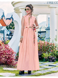 Designer and Beautiful Peach Color Gown
