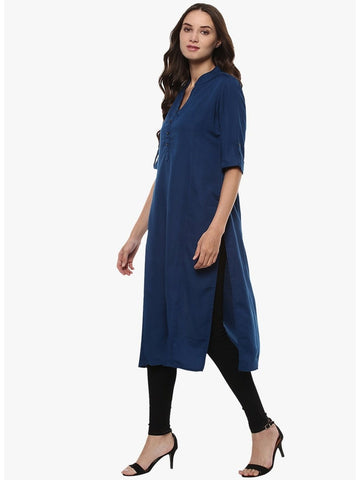 badeea97c Latest Designer Womens Blue Long Kurta – PurpleTulsi.com