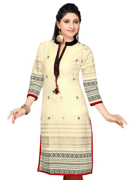 Block Printed long sleeves kurti - PurpleTulsi.com  - 1