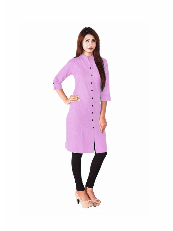 Exotic Cotton Plain Purple Kurti