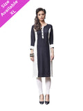 Exotic Rayon Plain Black Kurti