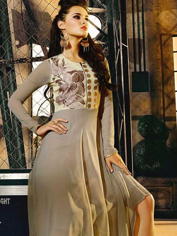 Elegant grey dress - PurpleTulsi.com