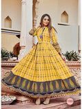 Beautiful Yellow Color PAL Print Anarkali Kurti