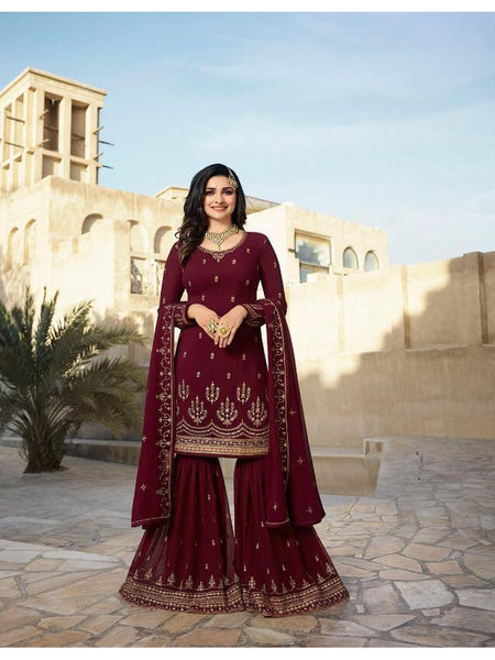 Beautiful Party Wear Georgette Straight Cut Suit