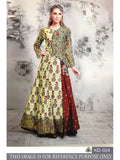 PURE CHANDERI PRINTED & HEAVY RASBERRY FOIL DRESS