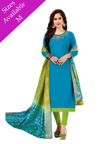 Designer Blue Color Straight Cut Suit