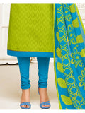 Designer Green Color Embroidered Jacquard Straight Cut Suit