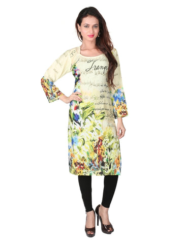 (L Size) Exclusive Digital Printed Multicolour Kurta