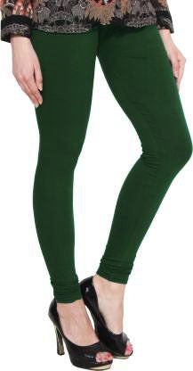 Green cotton Lycra Leggings
