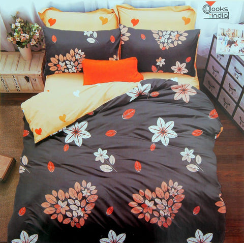 Pack of 1 Double Size Bedsheet With 2 Pillow Cover
