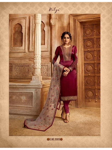 Beautiful Party Wear Embroidered Georgette Anarkali Suit and Staright Cut Suit