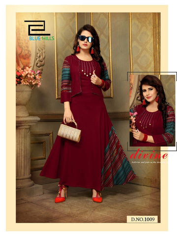 Designer and Beautiful Party wear Anarkali Kurti with Jacket