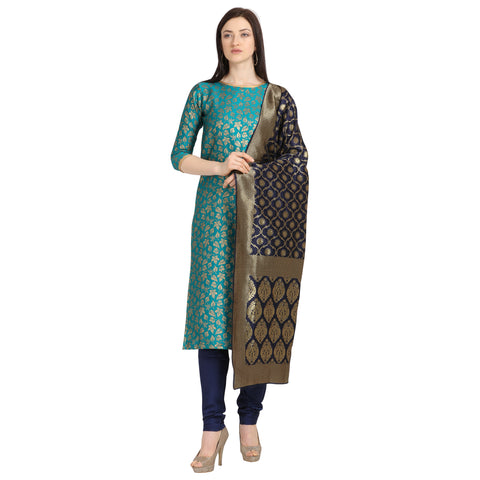 Green Weaving Jacquard Straight Cut Suit