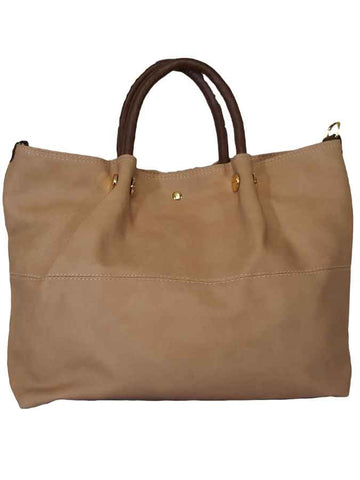 Light Brown premium pure leather bag - PurpleTulsi.com