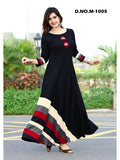 Designer Multi Color Embroidered Rayon Anarkali Kurti Gown