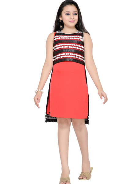 Coral Red Dress - PurpleTulsi.com