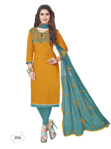 Designer Orange Color Choli Daman Style Straight Cut Suit