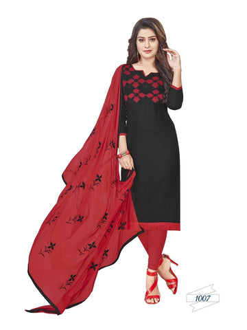 Designer Black Color Choli Daman Style Straight Cut Suit