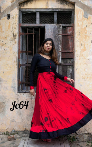 Designer Heavy Japan Satin Anarkali Kurti