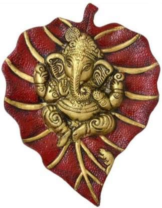 Ganesha On Red Patta Wall Hanging Decorative