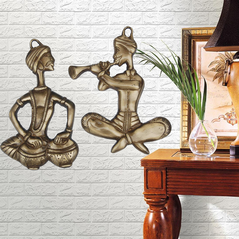 Decorative Set Of 2 Musicians Wall Hanging