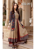Beautiful Designer Multi Color Printed Chanderi Cotton Anarkali Style Kurti