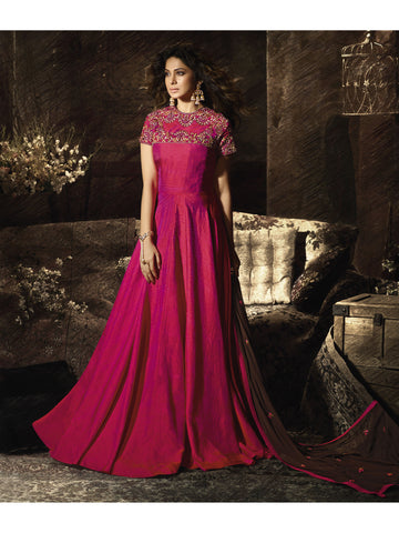 Designer and Beautiful Pink Color Anarkali Suits