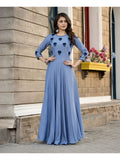 Designer and Beautiful Blue Color Gown