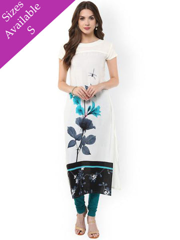 Blue and White Floral Designer Kurti